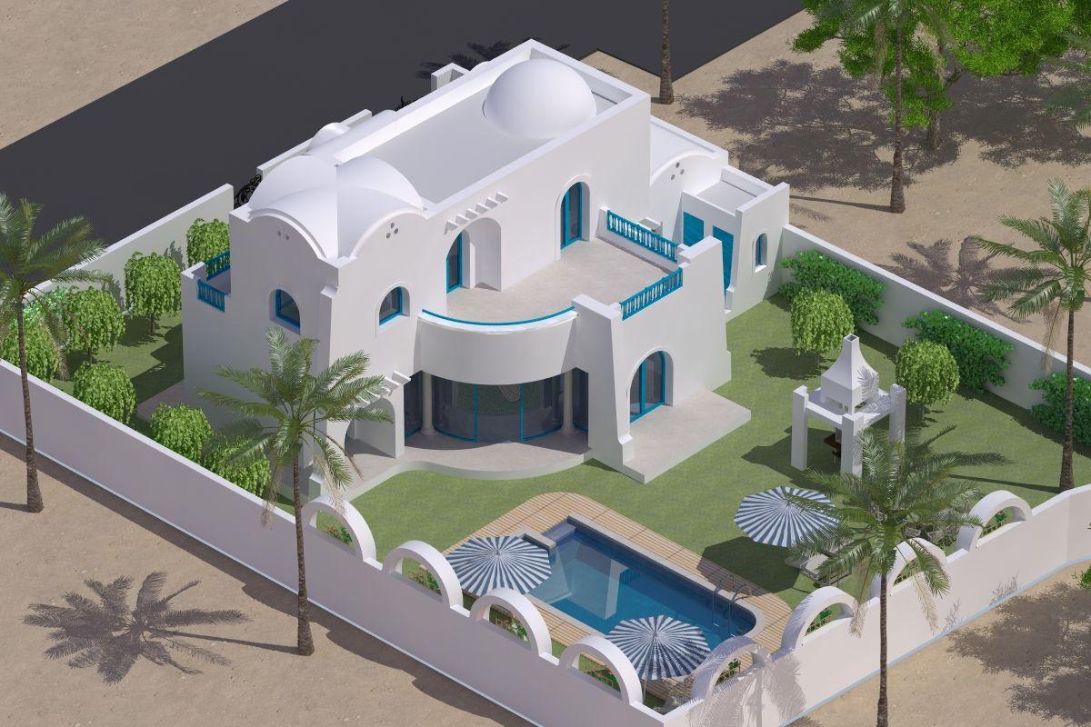 Jolie maison neuve vendre djerba tunisie vente maison aghir for Salon de maison en tunisie