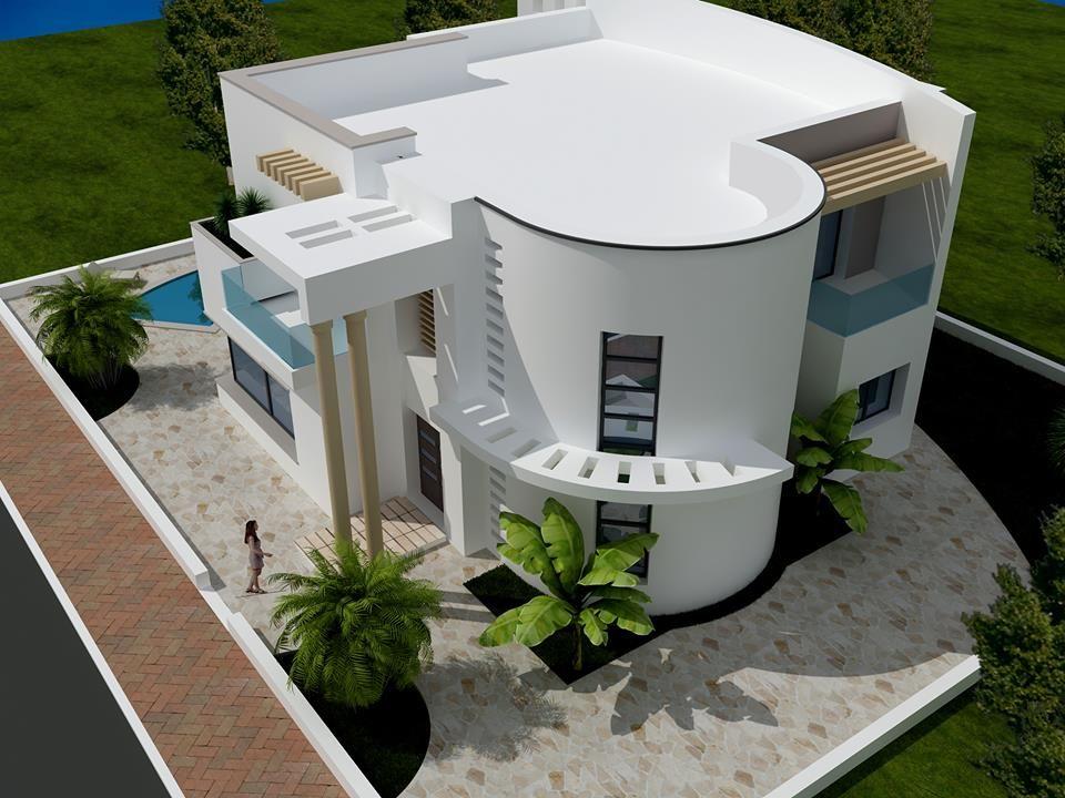 Vente une moderne villa non fini craxi hammamet sud for Villa moderne avec plan