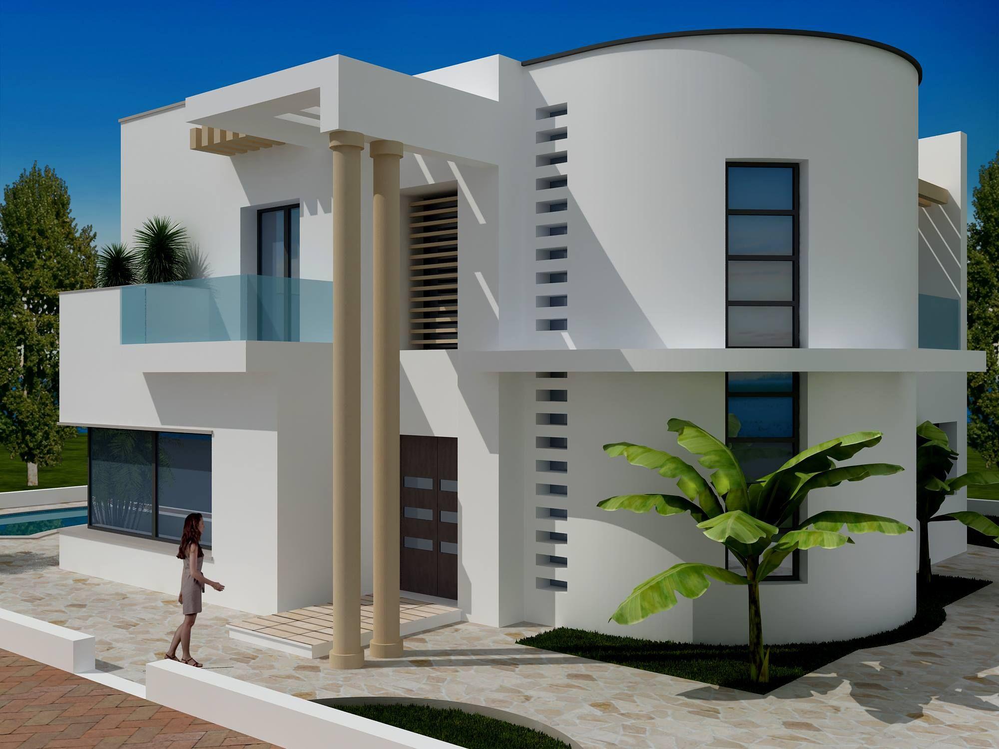 Vente une moderne villa non fini à craxi hammamet sud   vente ...