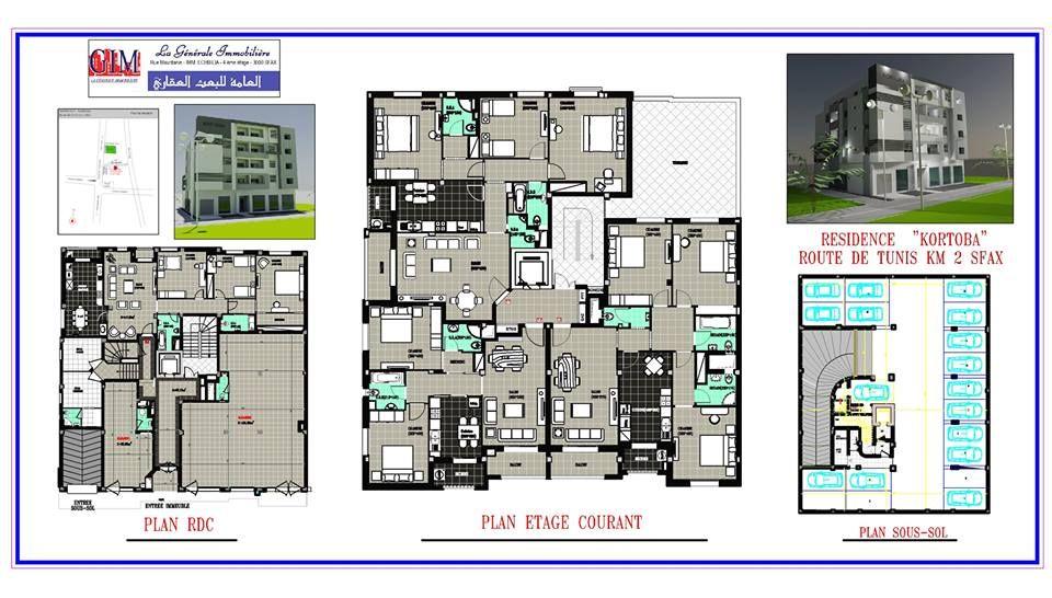 R sidence tr s haut standing kortoba sfax vente appartement el bousten - Residence de haut standing ...