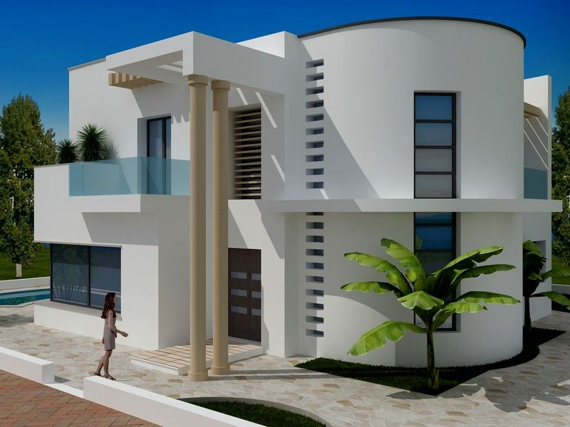 Av villa avec piscine de style moderne et du haut standing - Belle piscine de particulier ...