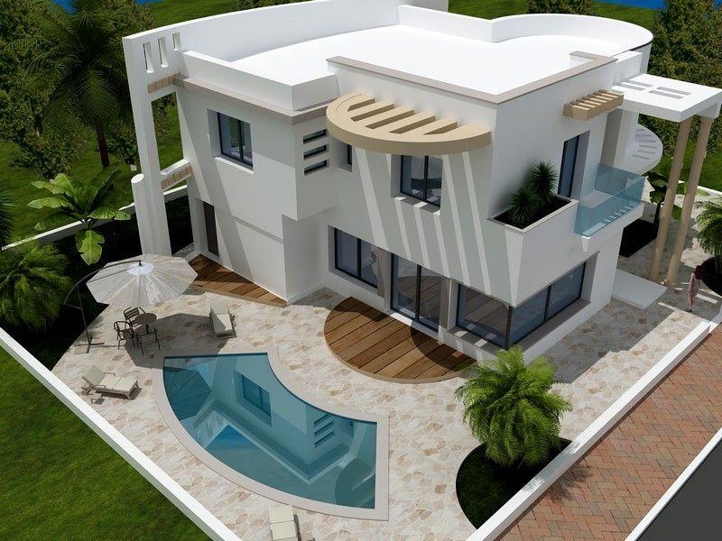 Av magnifique villa avec bel piscine hammamet vente for Piscine demontable tunisie
