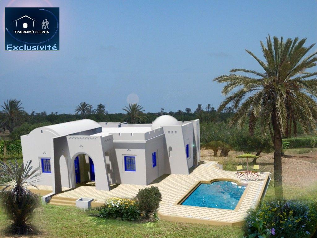 Acheter votre maison djerba 300m plage vente villa for Recherche villa avec piscine
