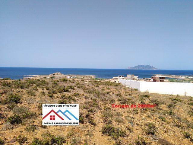 Terrain de 2000 m² a la mer cap bon