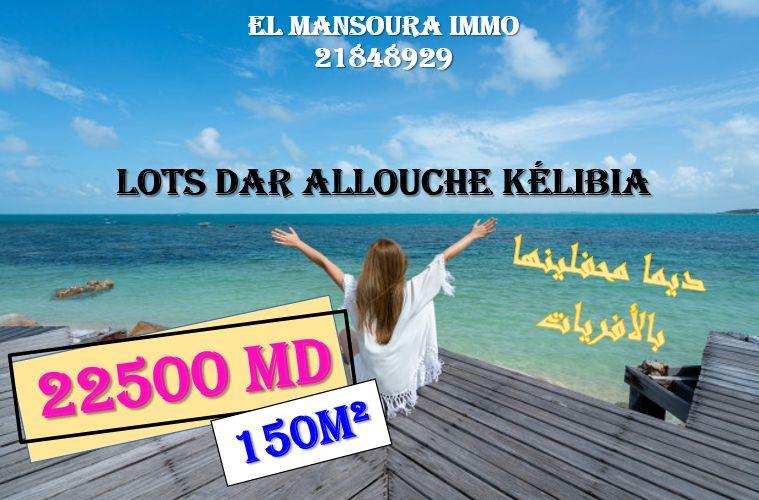 Lotissement situé a plage dar alouche kélibia a vendre