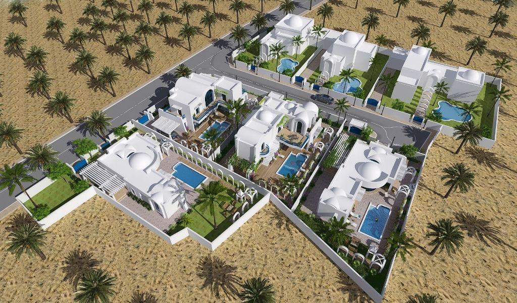 Résidence djerba villas à vendre avec piscine proche plage