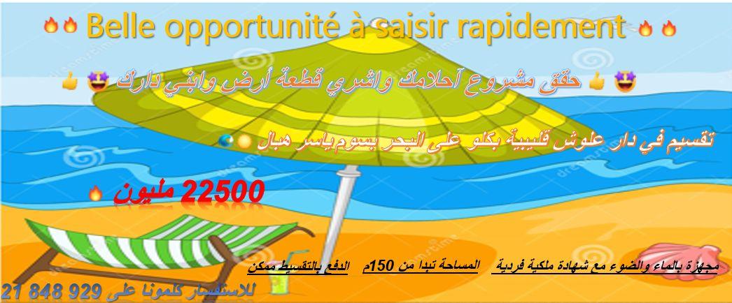 Terrain vue mer situé à kélibia dar allouch