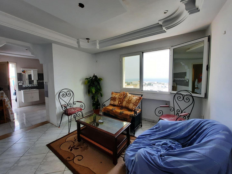 Av un appartement vue mer avec terrasse à hammamet m