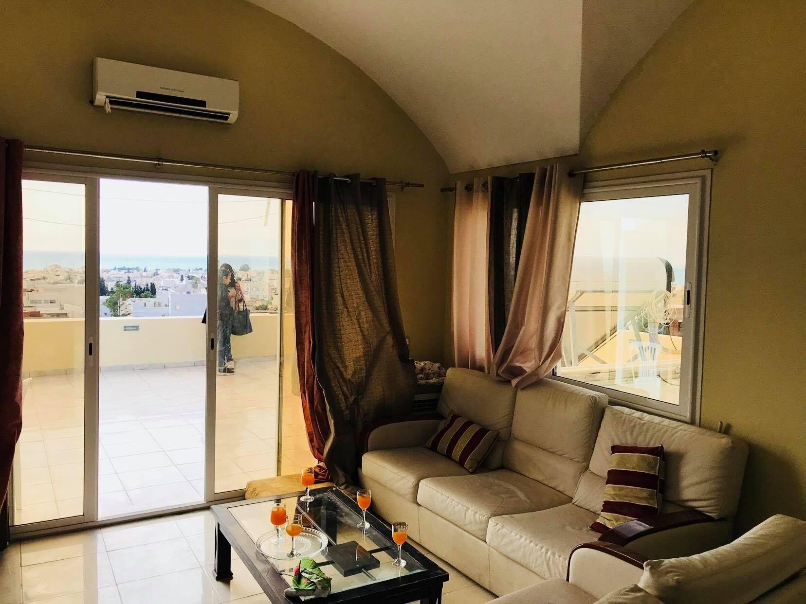 Av un appartement vue mer à hammamet mm