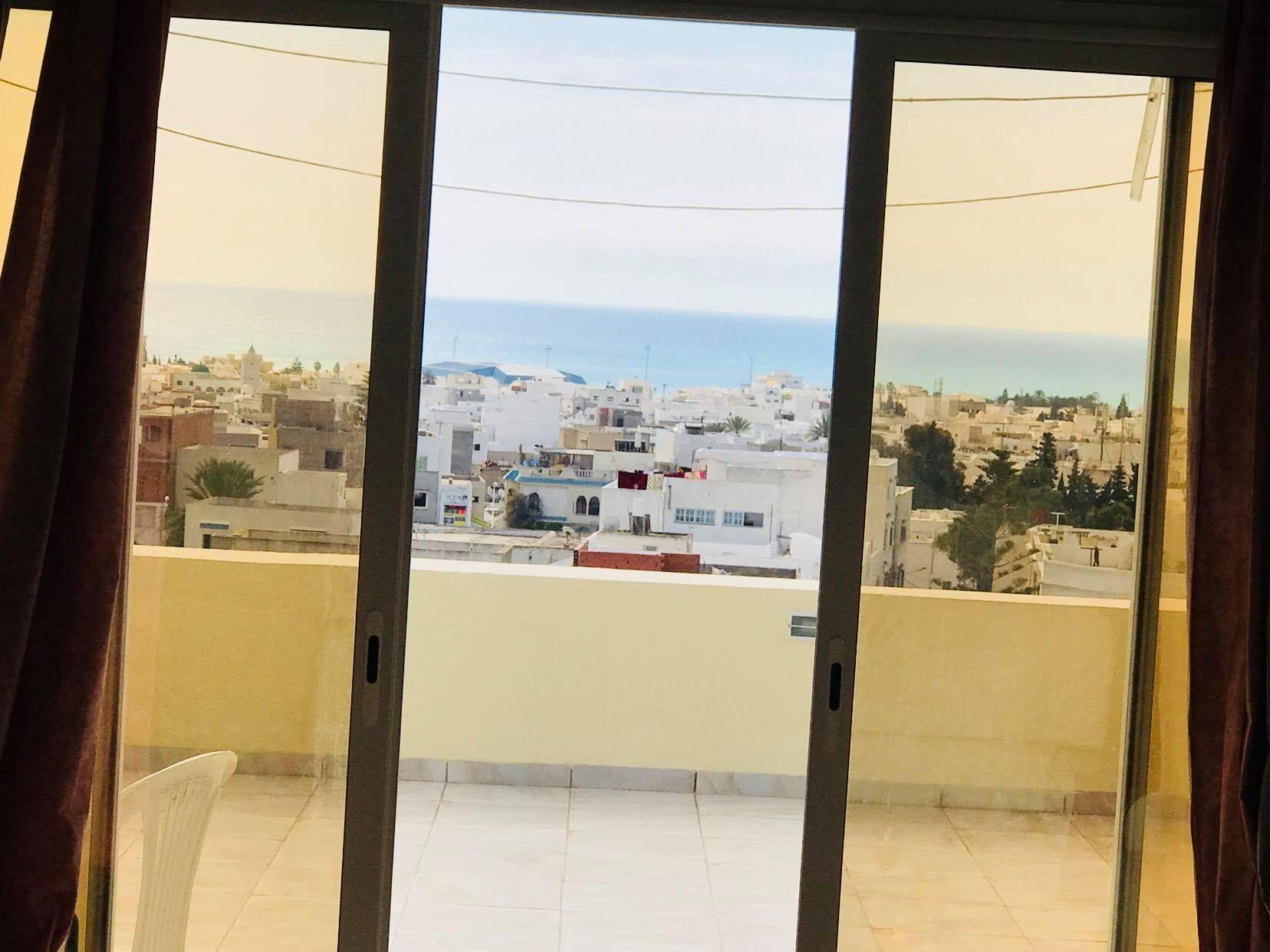 Un appartement vue mer à hammamet ville à vendre