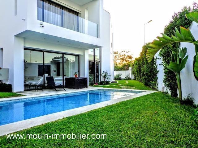 Villa l'artiste li al pour les vacances à yasmine hammamet