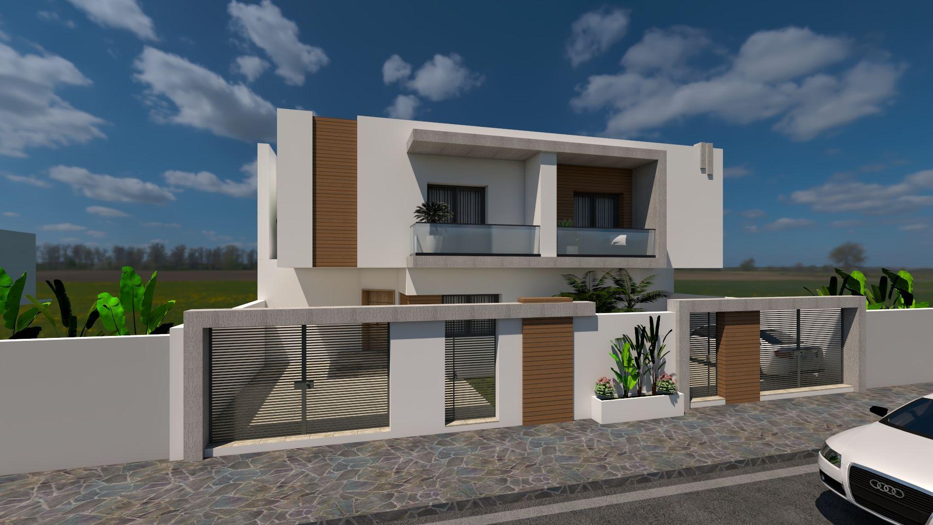 Av deux belles villas style duplex à hammamet nord nd