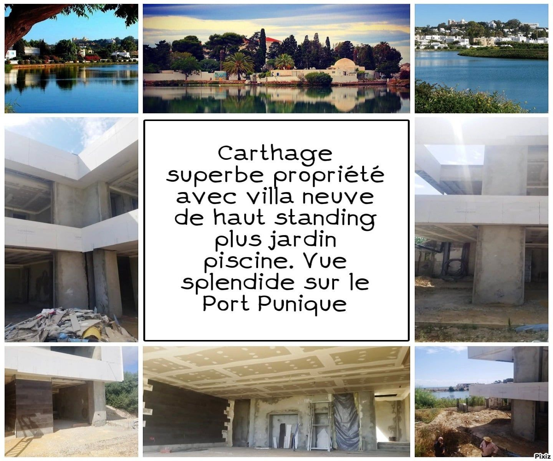Exceptionnel et rare a carthage superbe propriété avec villa