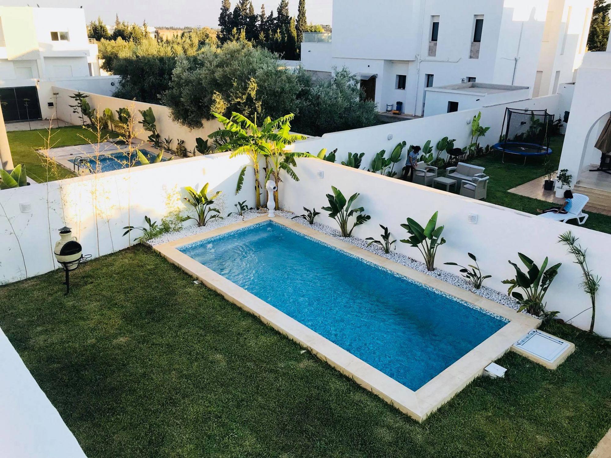 Av une belle villa avec piscine à hamammet sud m