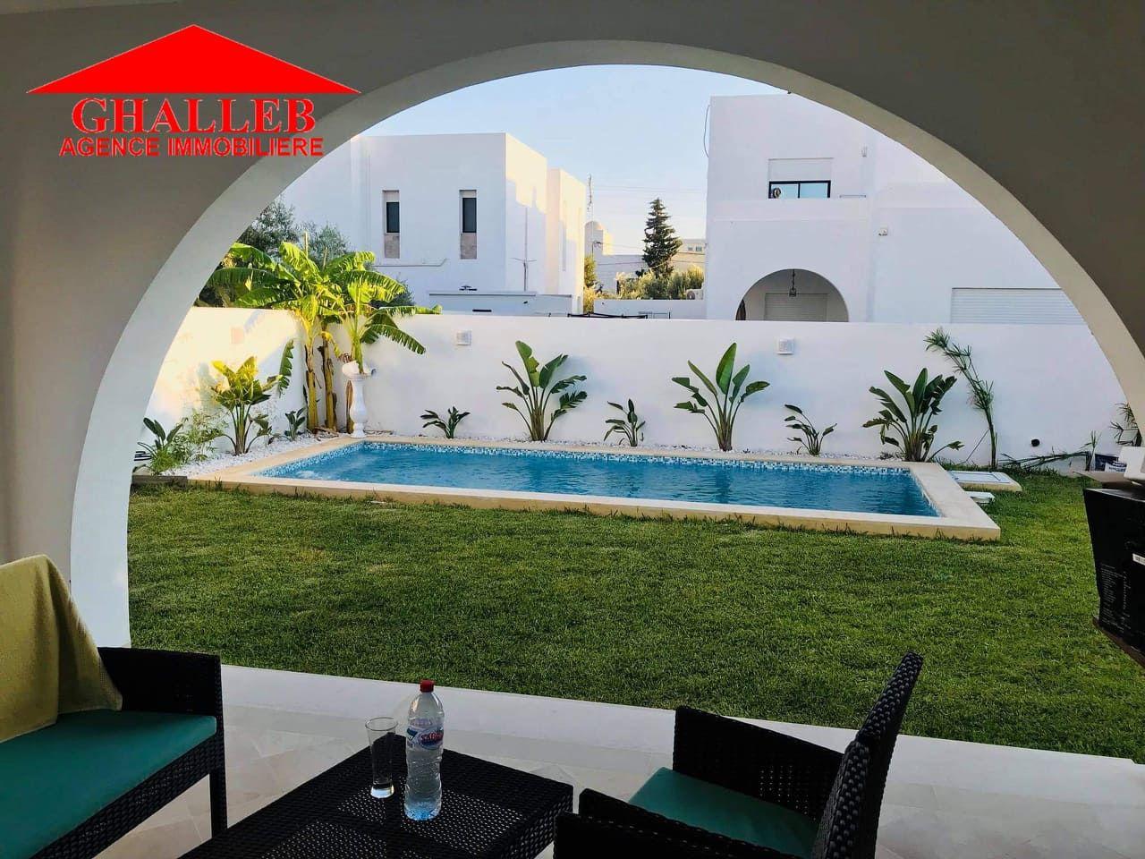 Av une belle villa avec piscine à hamammet sud mar