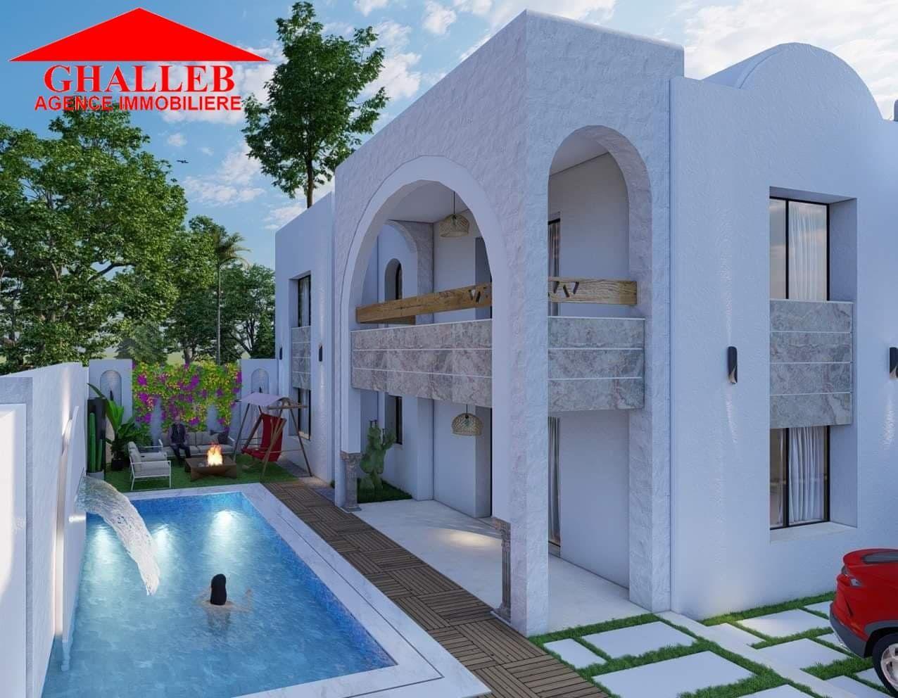 Av une belle villa avec piscine à hamammet sud marr