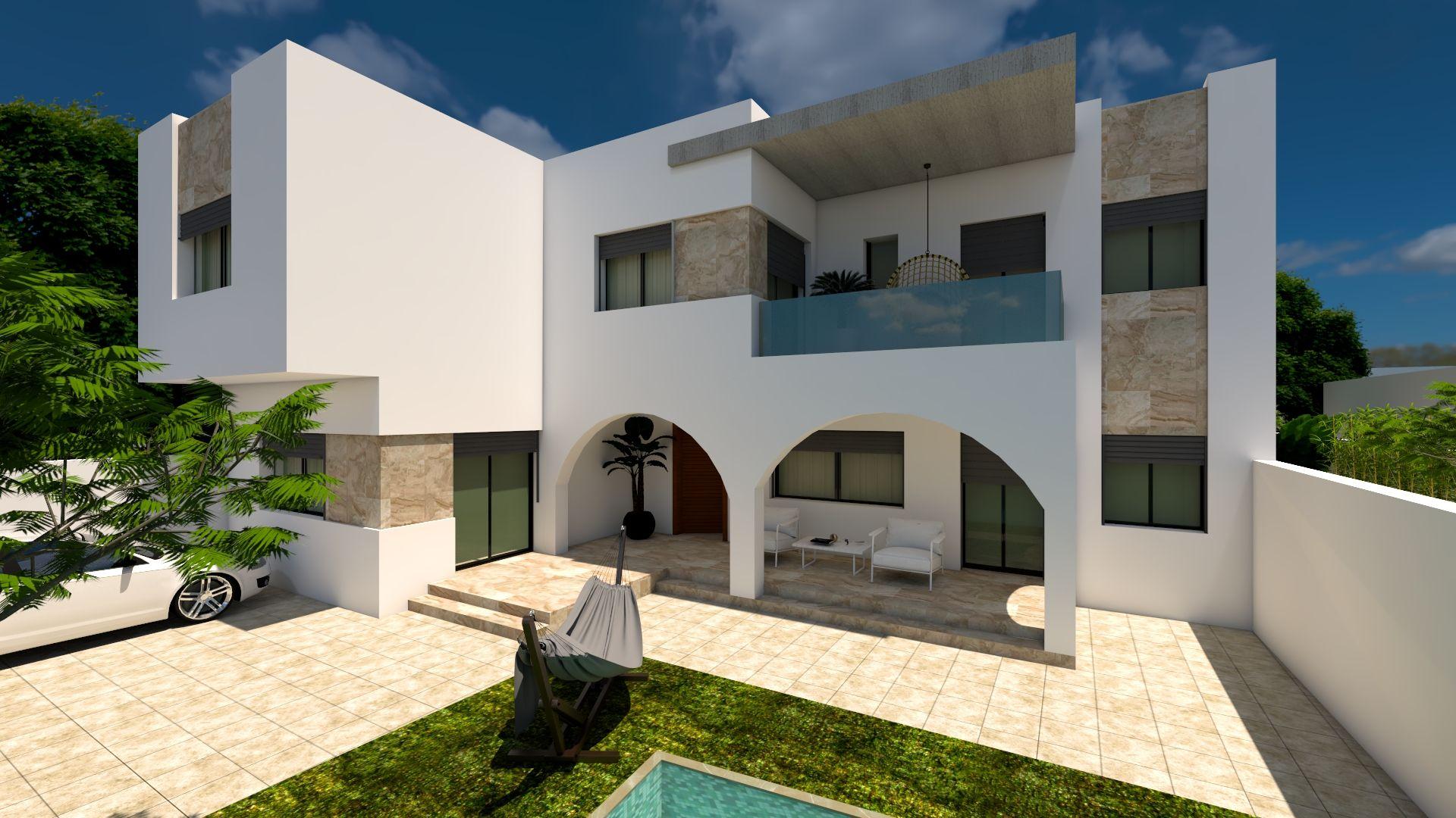 Av une belle villa à hammamet nord marwwa