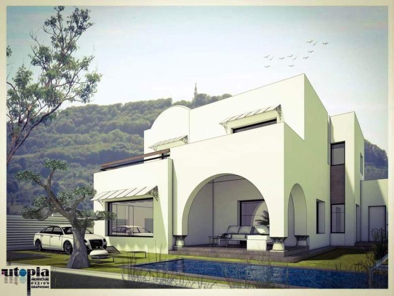 Villa cheddar réf:  vente villa avec piscine hammamet