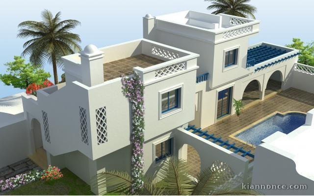 Maison vendre djerba tunisie villa cham vente maison for Architecture tunisienne maison
