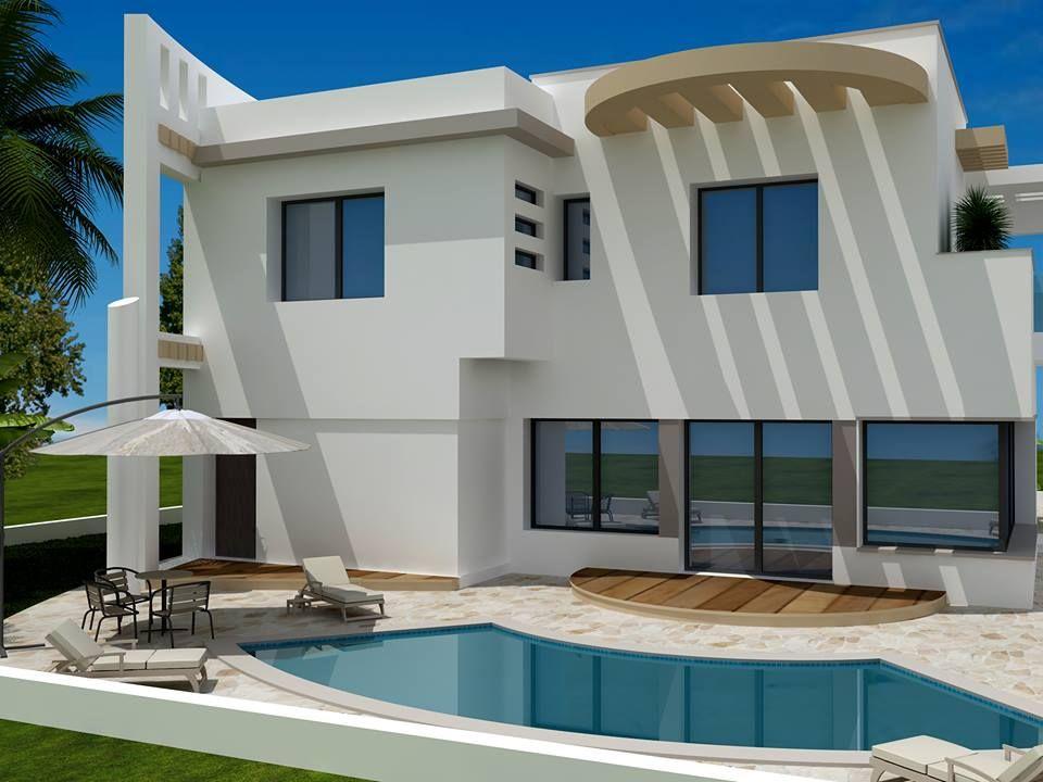 Vente une moderne villa non fini craxi hammamet sud vente villa hammamet for Salon de maison en tunisie