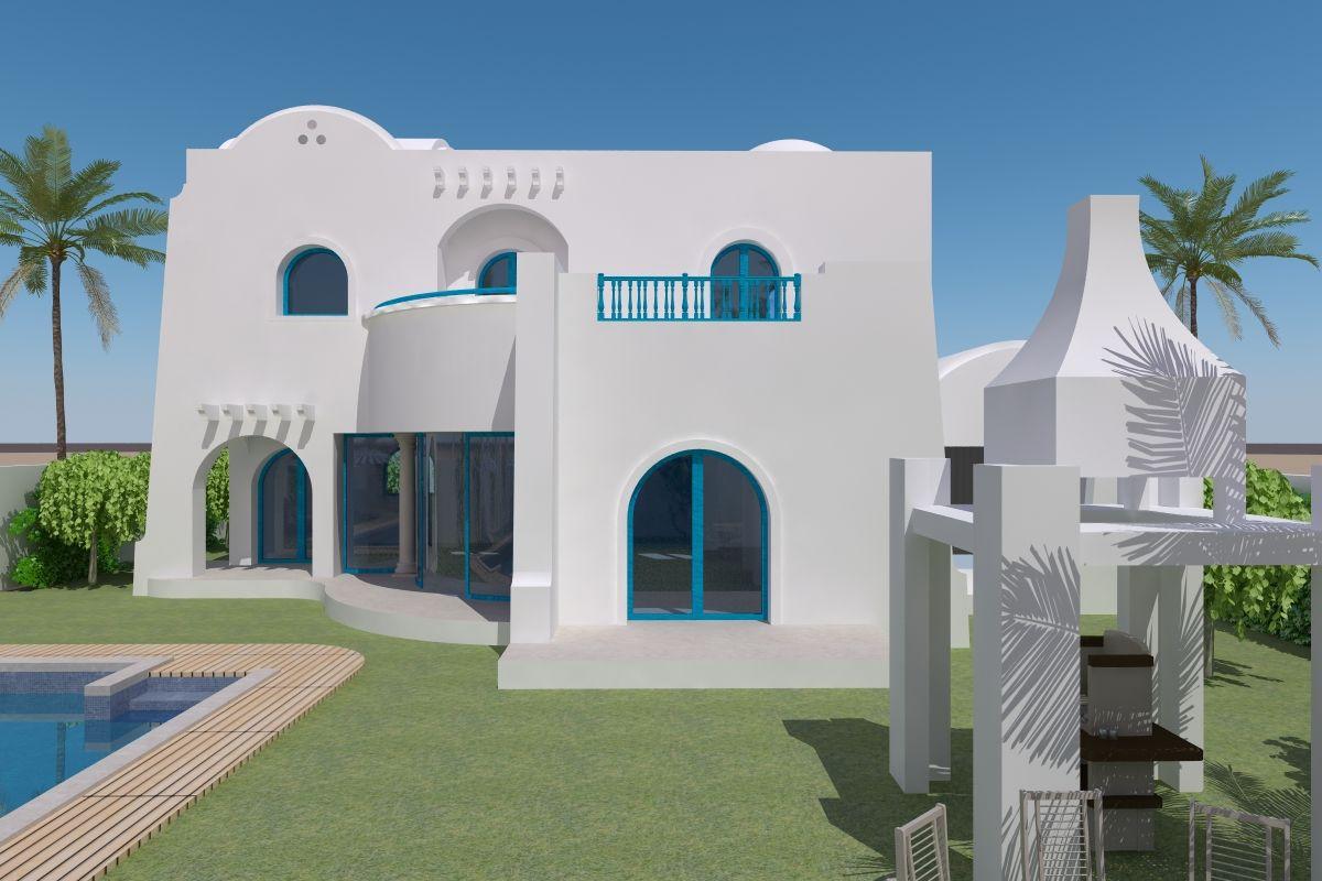 Vente djerba villa de standing vue mer et plage à 300 m