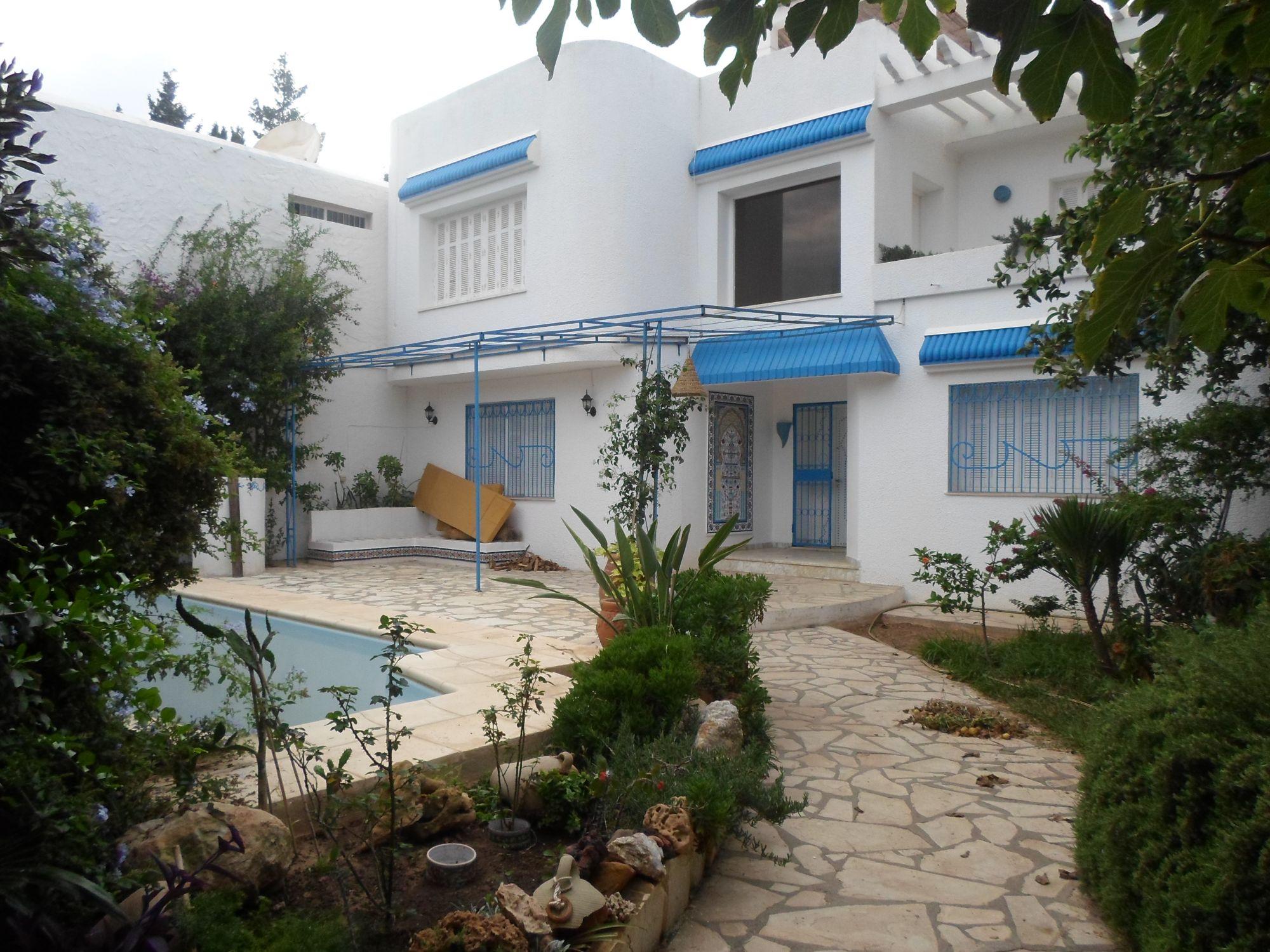 Al villa avec piscine à hammamet 3min de la mer