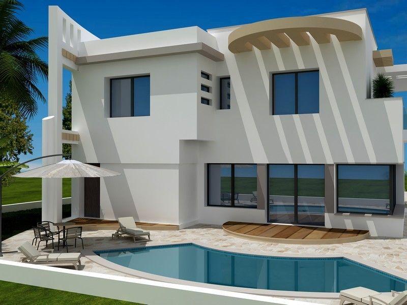 Av villa moderne et imposante dans les vergers de hammamet for Les villa moderne