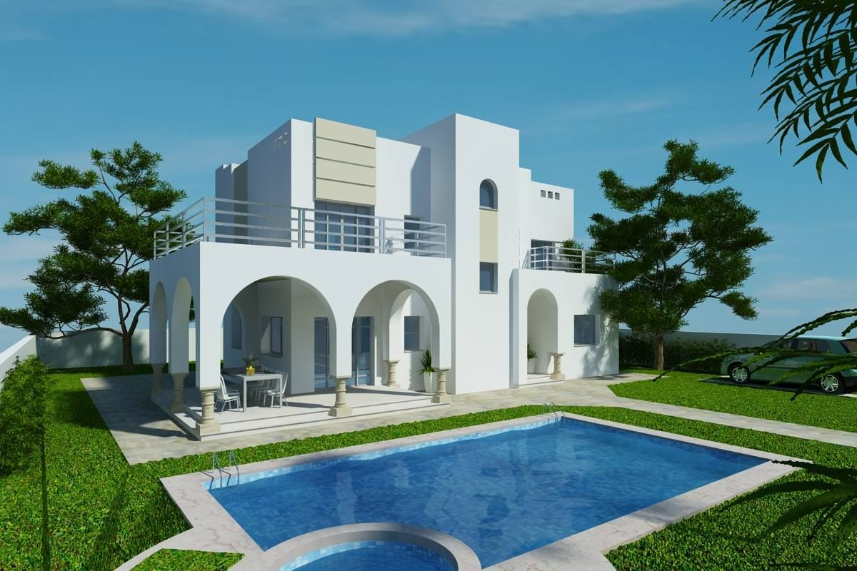 Villa ib rostar yasmine hammamet vente maison nabeul for Recherche villa avec piscine