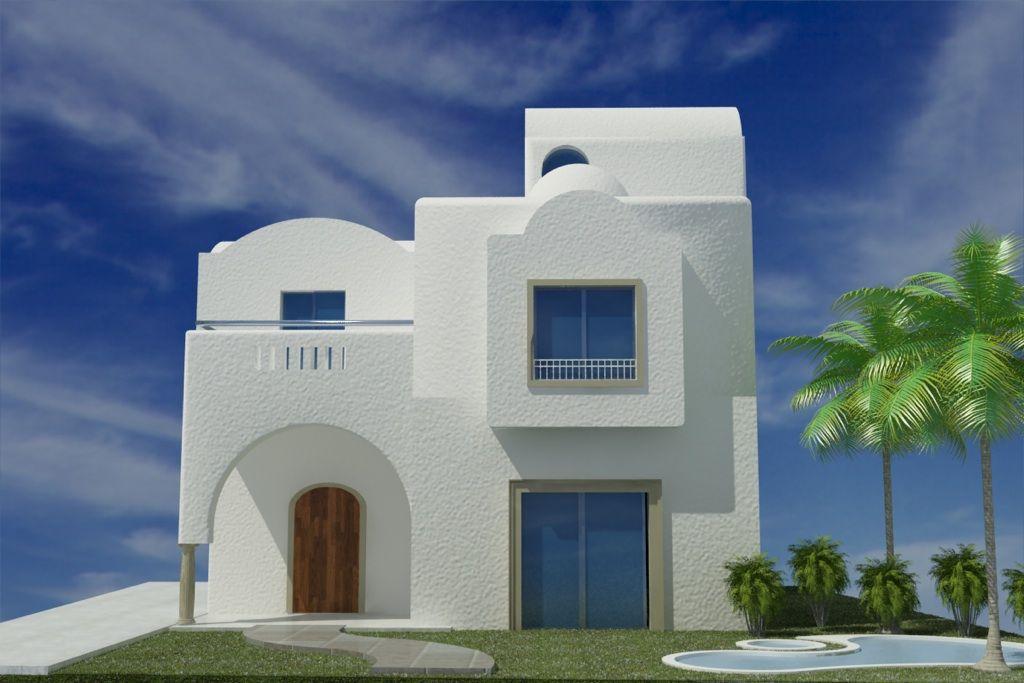 villa el fel hammamet v003 - Plan De Maison En Tunisie