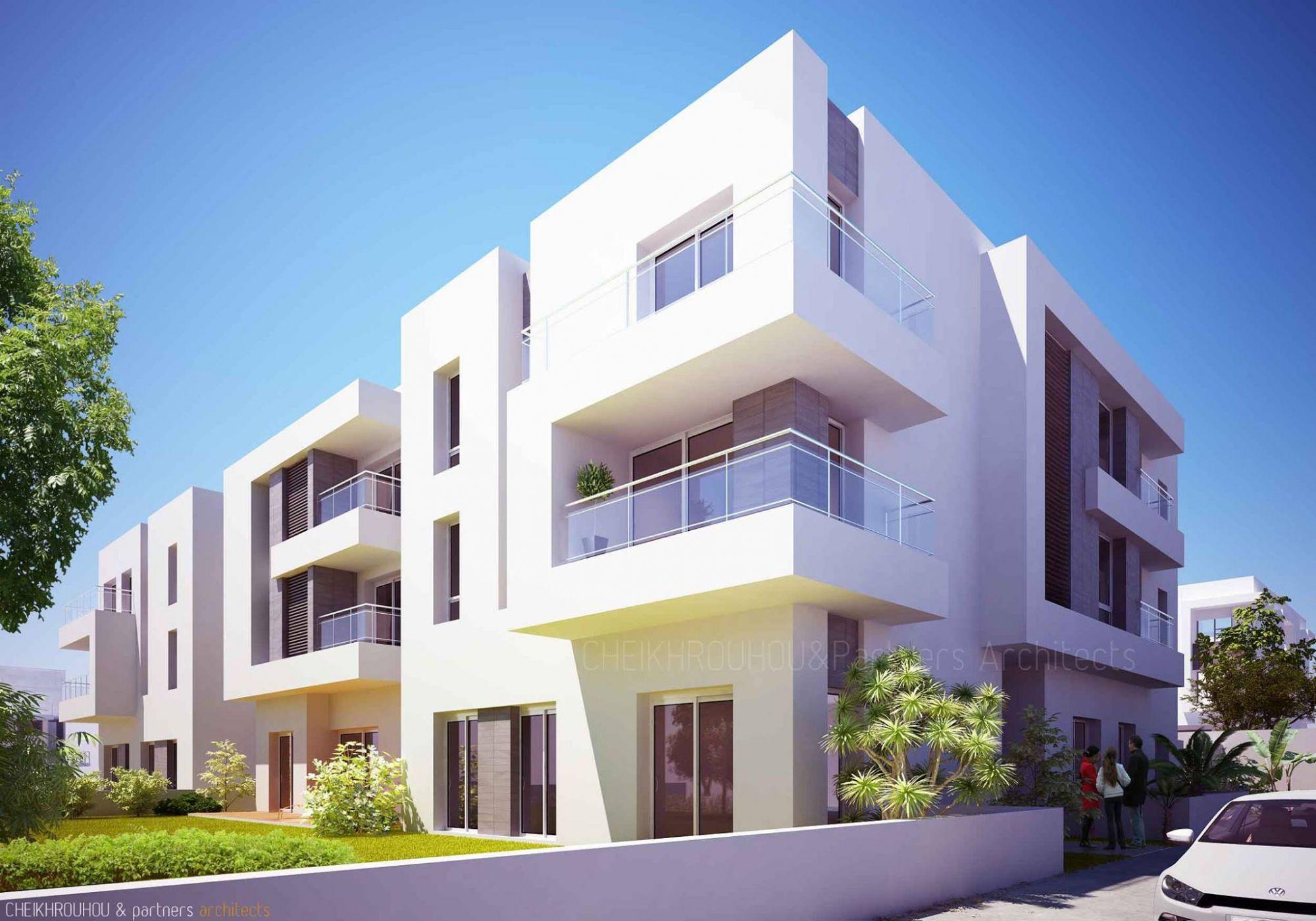 R sidence haut standing d 39 une architecture moderne vente appartement rades meliane - Residence de haut standing rubio ...