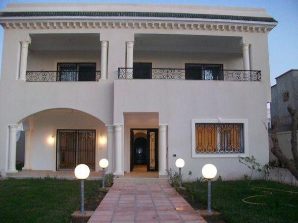 Villa korba korba v074 vente villa korba immobilier for Facade exterieur villa
