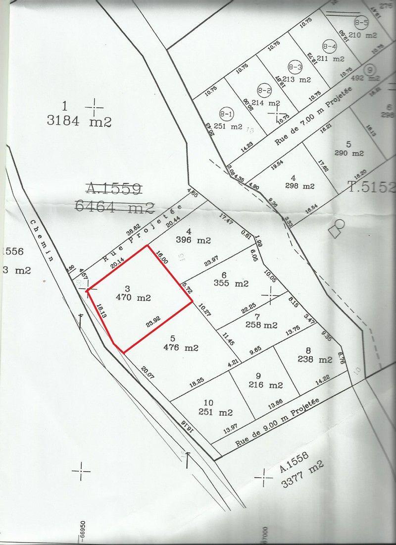 Terrain nu de 470 m² à kharrouba